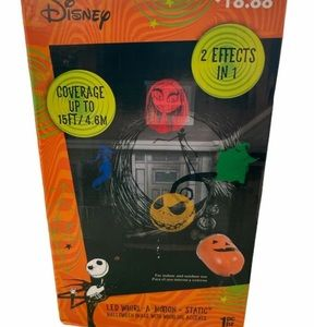 Disney The Nightmare Before Christmas LED Whirl-A-Motion+Static Halloween